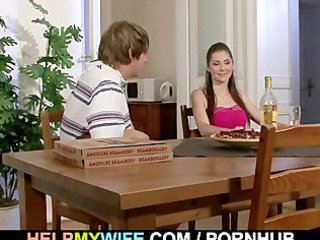 super lady cucks hubby with pizza man