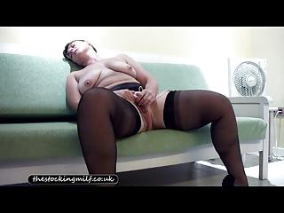 european lingerie milf teases her pussy