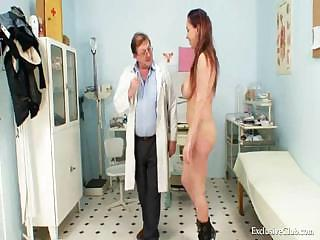 naughty andrea kitty speculum examination by old