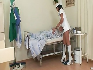 naughty amateur nurse bitch joins old and...