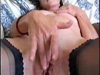 super stolen video of older lady pushing dildo !