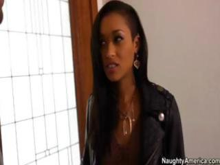 gorgeous black babe hooks up with her brothers