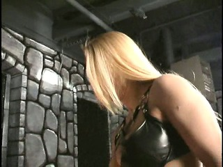 poor tortured slave has his balls kicked by