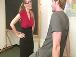 wonderful mature girl instructor with glasses