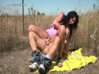 busty chick takes fucked uneasy open-air