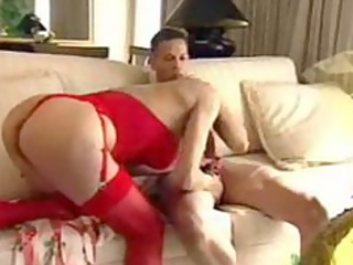 exquisite woman into red gives tip