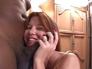 albino mature babe redhaired obtains giant brown