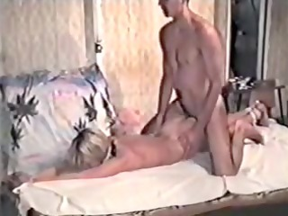 blond in inexperienced bdsm tape