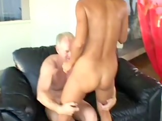 aged goldenhaired lady receives arse pierced