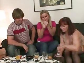 desperate brunette momma opens white cream hungry
