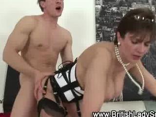 older classy brit obtains dick