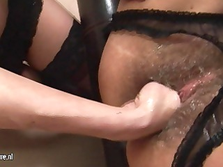 desperate milf fisted by a hot babe