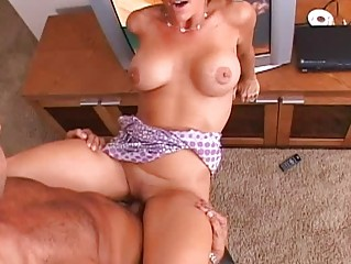 brunette gorgeous milf with large breast taking