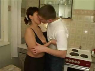 russian milf gang-banged by her sons friends