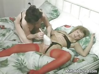 two older chicks having lesbian fuck
