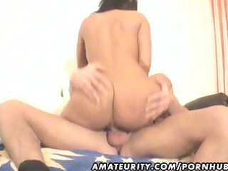 horny fresh lady fellatio and gang bang with