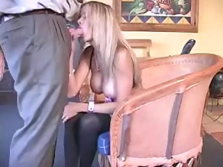 busty fresh housewife playing with penis