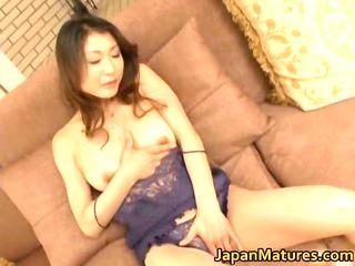horny japanese cougar babes tasting