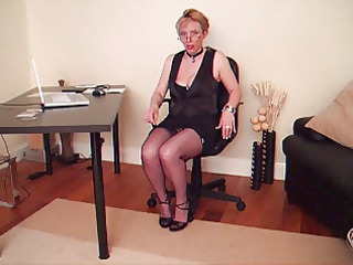 older lady in nylons stockings