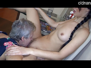 elderly elderly and sexy lady
