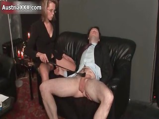 filthy cougar bitch goes mad spanking
