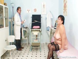 busty elder girl gyn clinic exam