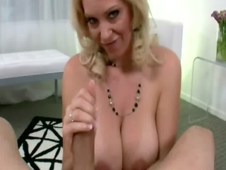 cougar blondy giving me head on camera