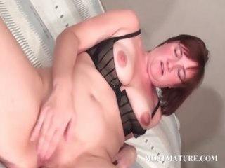 closeup with elderly spreading bitch
