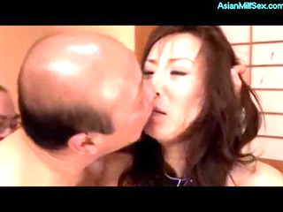 babe dominated by old fucker and buddies licked