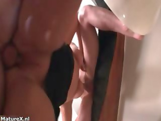 super grownup chick blows big difficult penis