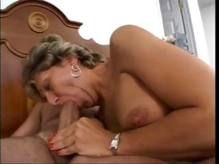 busty mature angel sucks libido and takes her