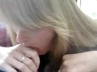 super cougar lady blows and obtains a mouthful