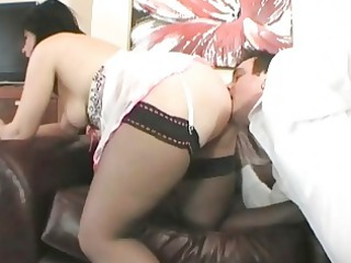 classy british brunette girl gang-banged on the