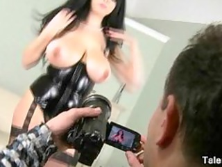 awesome milf inside corset has giant bossom