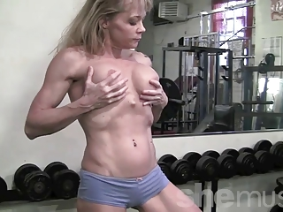 cougar muscle in the gym