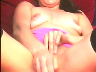 awesome woman brunette pushing plastic cock
