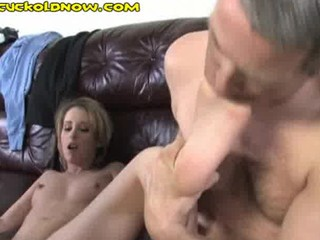 cuckold can just suck his wifes toes