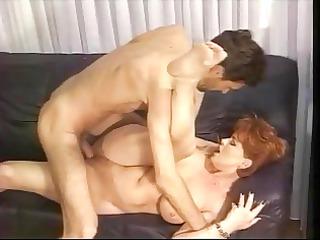 ginger german elderly kira pierced by big penis
