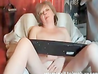 53 years granny louise fingering at home