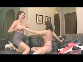 brooke youthful lesbo teached by older one