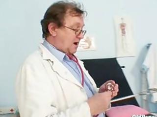 mature young babe weird gyno clinic exam