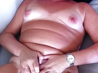 housewife wanks and cums for hubby