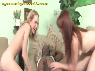 two clean gals share ebony meat