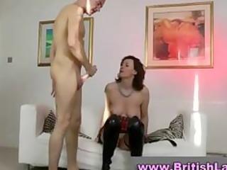 mature english babe in pantyhose fucking more