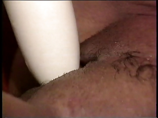 woman licks dick and sex toy gang-bangs