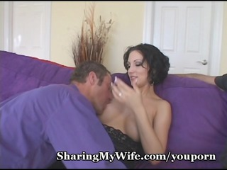 sissy hubby watches extremely impressive lady
