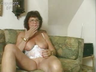 adorable granny dildoing
