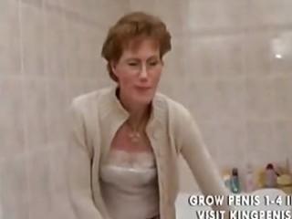 horny grandma peeing and shaving,.,..