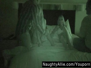 foursome on night vision cam woman swapping bunch