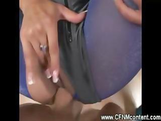 cfnm lady sucks and gang-banged by hard dick